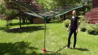 Leifheit Linomatic 500 Deluxe Rotary Clothesline(This video includes how to install the Leifheit Linomatic 500 Deluxe Rotary Clothesline. For more information on our clothes dryers, please visit our website, ..., 2015-02-13T21:08:24.000Z)