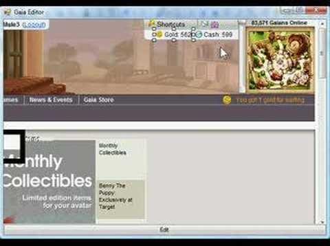 Gaia Online Gold Editor