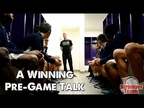 A Winning Pre-Game Talk