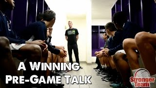 A Winning Pre-Game Talk