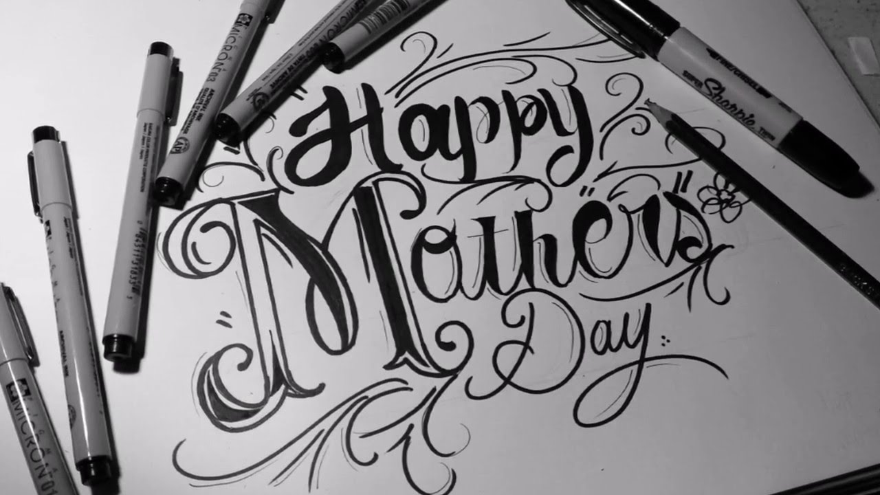 Happy Mother's Day! Lettering Drawing   2STAR - YouTube