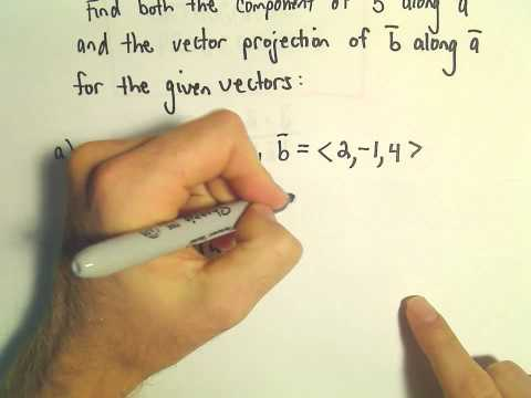 Orthogonal Projections - Scalar and Vector Projections