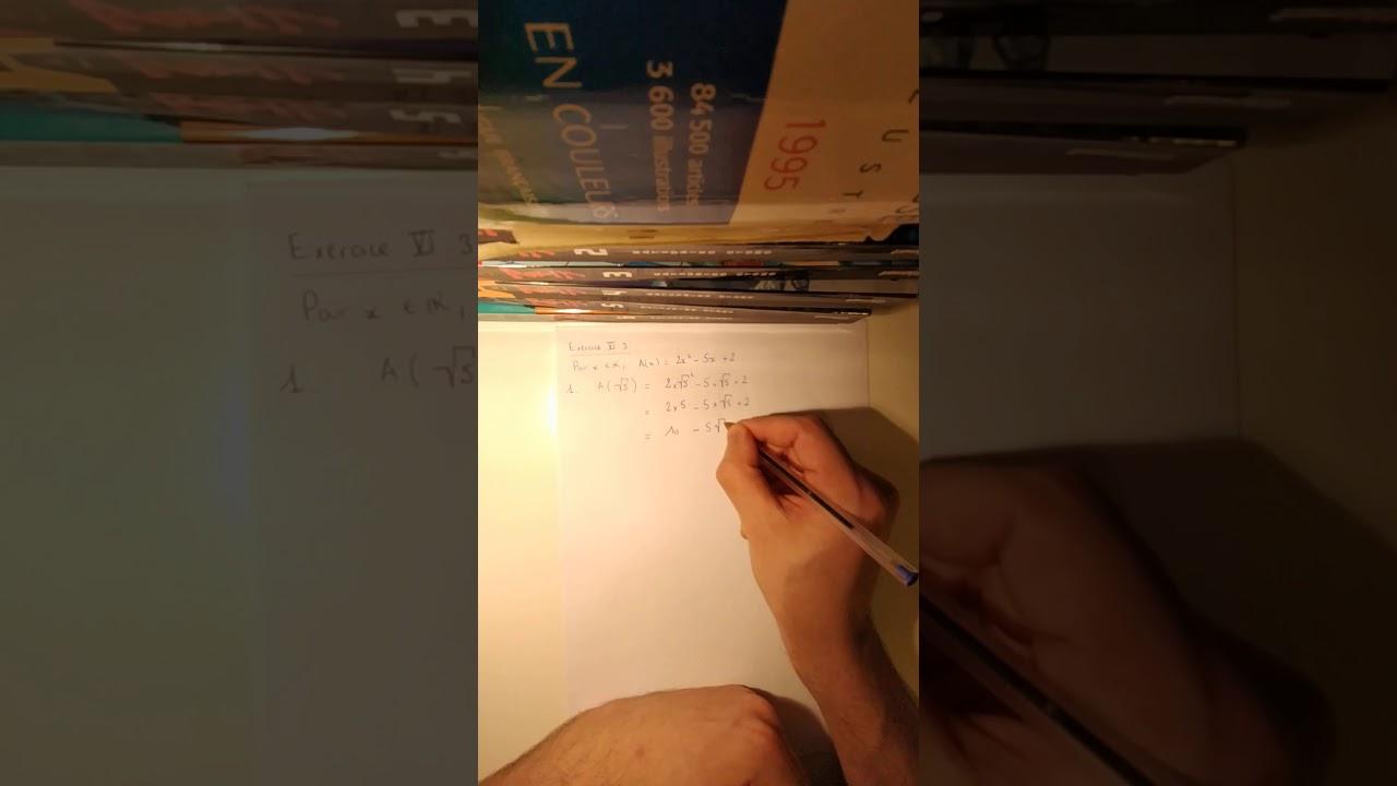 Seconde Calcul Litteral Correction De L Exercice Vi 3 Youtube