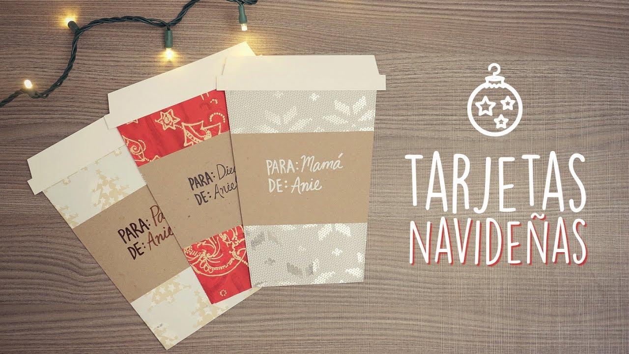 tarjetas navideas en forma de caf paperpop