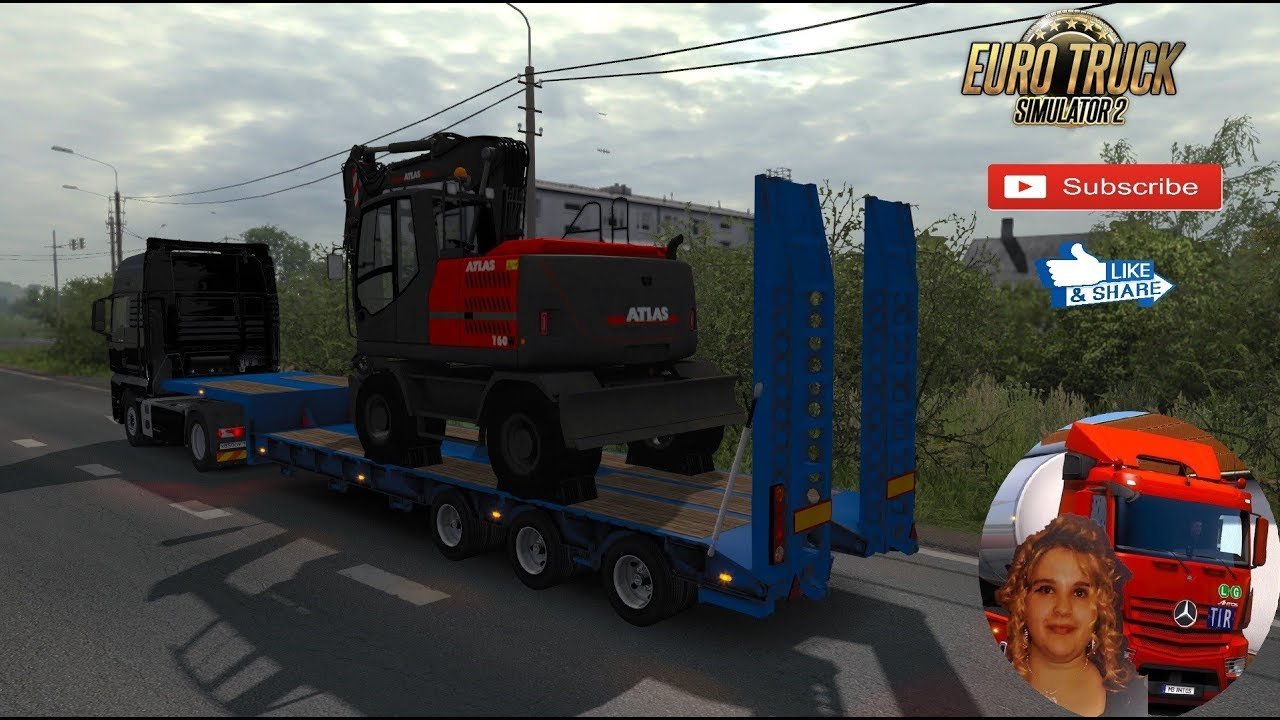 Euro Truck Simulator 2 (1 34) Overweight Trailers and Cargo Pack by  Jazzycat v 7 7 + DLC's & Mods