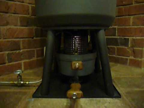 Waste oil heater - YouTube