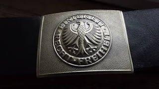 Военное снаряжение армии германии. Ремень бундесвера.(Военное снаряжение армии германии. Ремень бундесвера- в этом видео я расскажу вам о парадном военном ремне..., 2015-09-26T17:24:49.000Z)