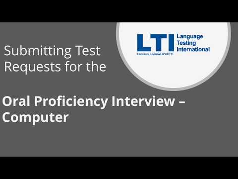 Submitting OPIc Test Requests from your Client Site Account