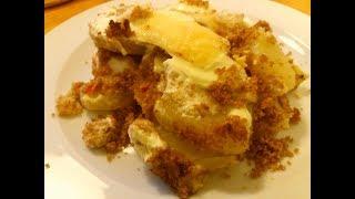 Cartofi gratinati-Rakott krumpli-Baked potatoes-Cartofi gratinati cu oua smantana cascaval, pesmet-