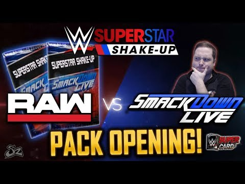 RAW vs SMACKDOWN! NEW SUPERSTAR SHAKE UP PACK OPENING! | WWE SuperCard