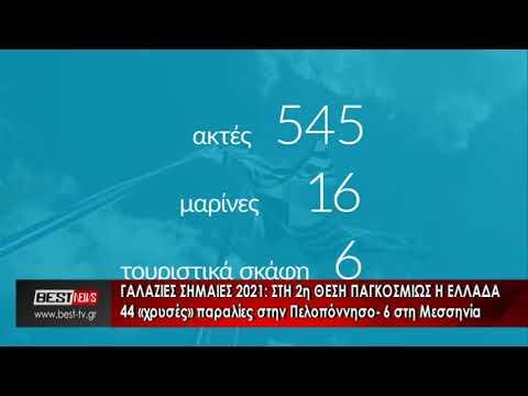 Γαλάζια σημαία σε 44 ακτές της Πελοποννήσου