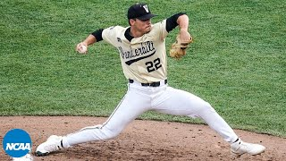 Jack Leiter strikes out 15 in Vanderbilt's CWS loss to NC State
