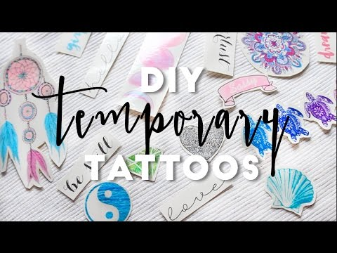 DIY Temporary Tattoos | Super Easy! | Hermione Chantal