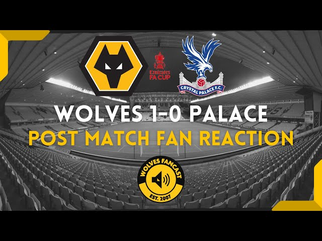 Wolves 1-0 Crystal Palace  - Fan Reaction.