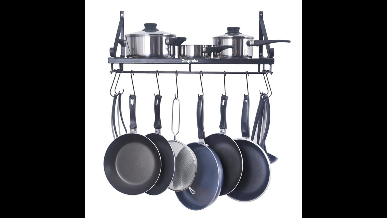 951526f398a Review  ZESPROKA Kitchen Wall Pot Pan Rack