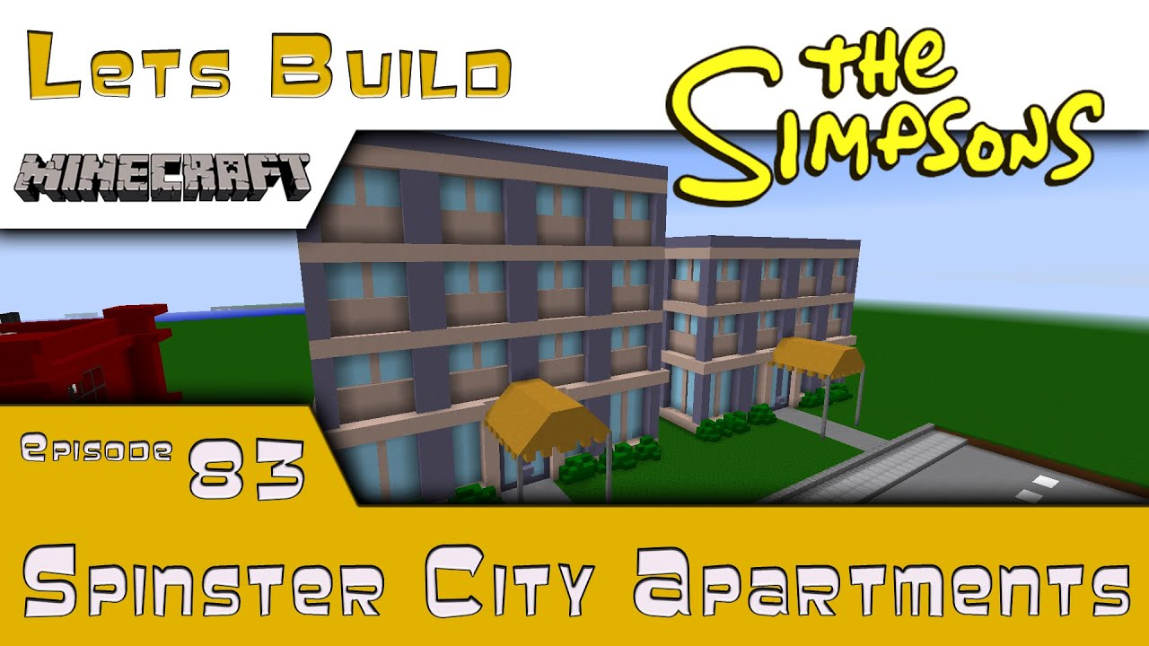 Minecraft Springfield Lets Build Spinster City Apartments E83