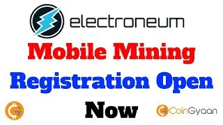 Electroneum Mobile Mining Registration Open Now | ETN Mobile Miner | HINDI