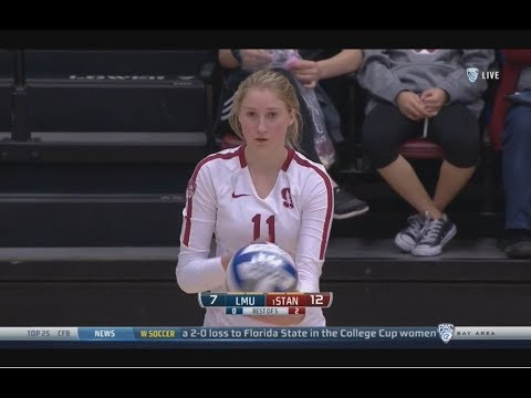 Stanford v  Loyola Marymount, 12/01/18, Women's Volleyball