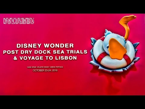 Disney Wonder Post Dry Dock Sea Trials & Trip to Lisbon Voyage Map