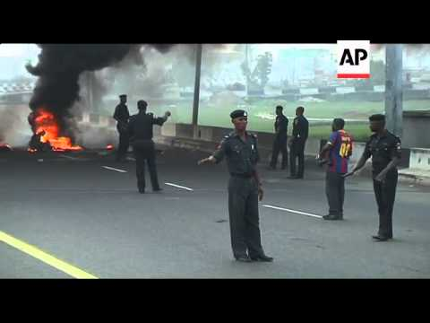 Burning roadblocks as strike over fuel prices enters second day