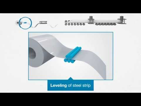 Roll forming process at voestalpine