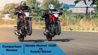 Honda CB Hornet 160R vs Suzuki Gixxer - Comparison Review   MotorBeam