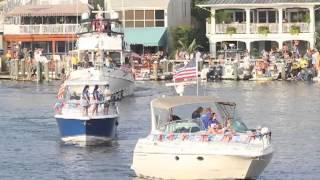 Night in Venice boat parade in Ocean City