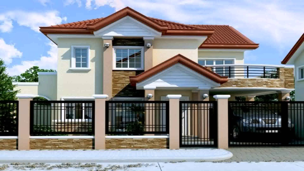 Two storey house design with floor plan in the philippines for Floor plan of a two storey house