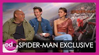 SPIDER-MAN: Tom Holland, Zendaya & Jacob Batalon talk spidey-senses and upside down kissing