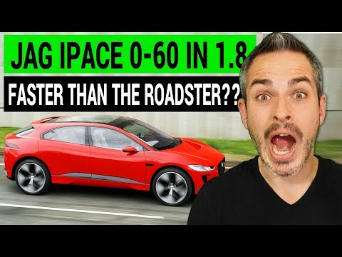 Jaguar IPace 0-60 in 1.8 seconds: Faster...