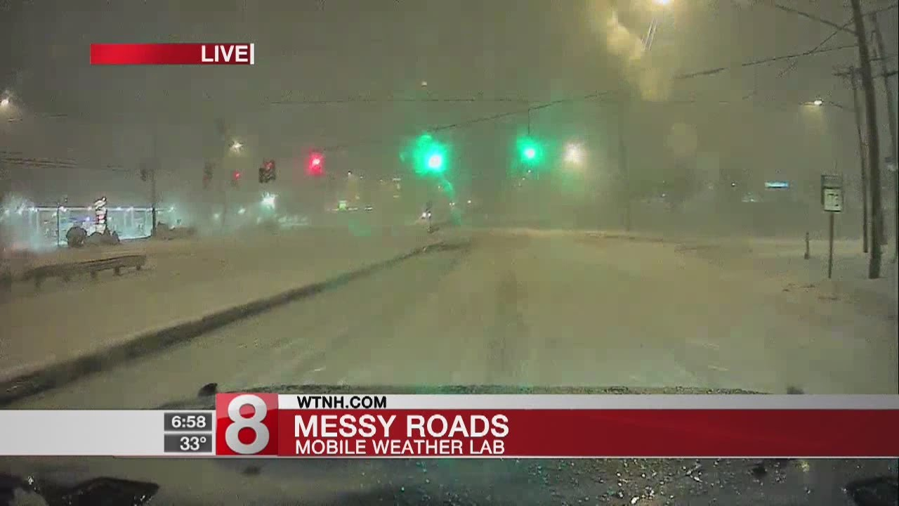 Checking the road conditions in our Storm Team 8 Mobile