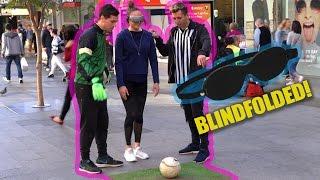 BLINDFOLDED SOCCER PRANK!