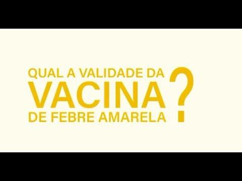 Qual o prazo de validade da vacina da febre amarela?