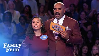 The Zhangs play Fast Money! | Family Feud