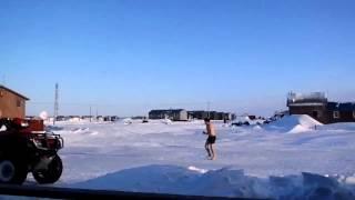 Streaking at 40 below in Alaska