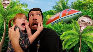 LOST in the JUNGLE!!  messy toy room play pretend with Adley &amp Dad! wild pets! neighbor wont wakeup