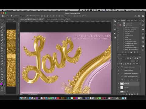 Metallic Gold 3d Style Lettering In Photoshop: 24K Gold Brush Magic