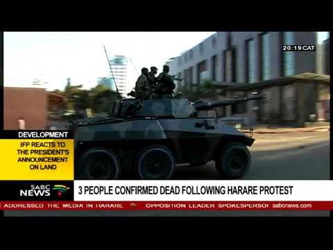 Mzwandile Mbeje reacts to post Zimbabwe election violence