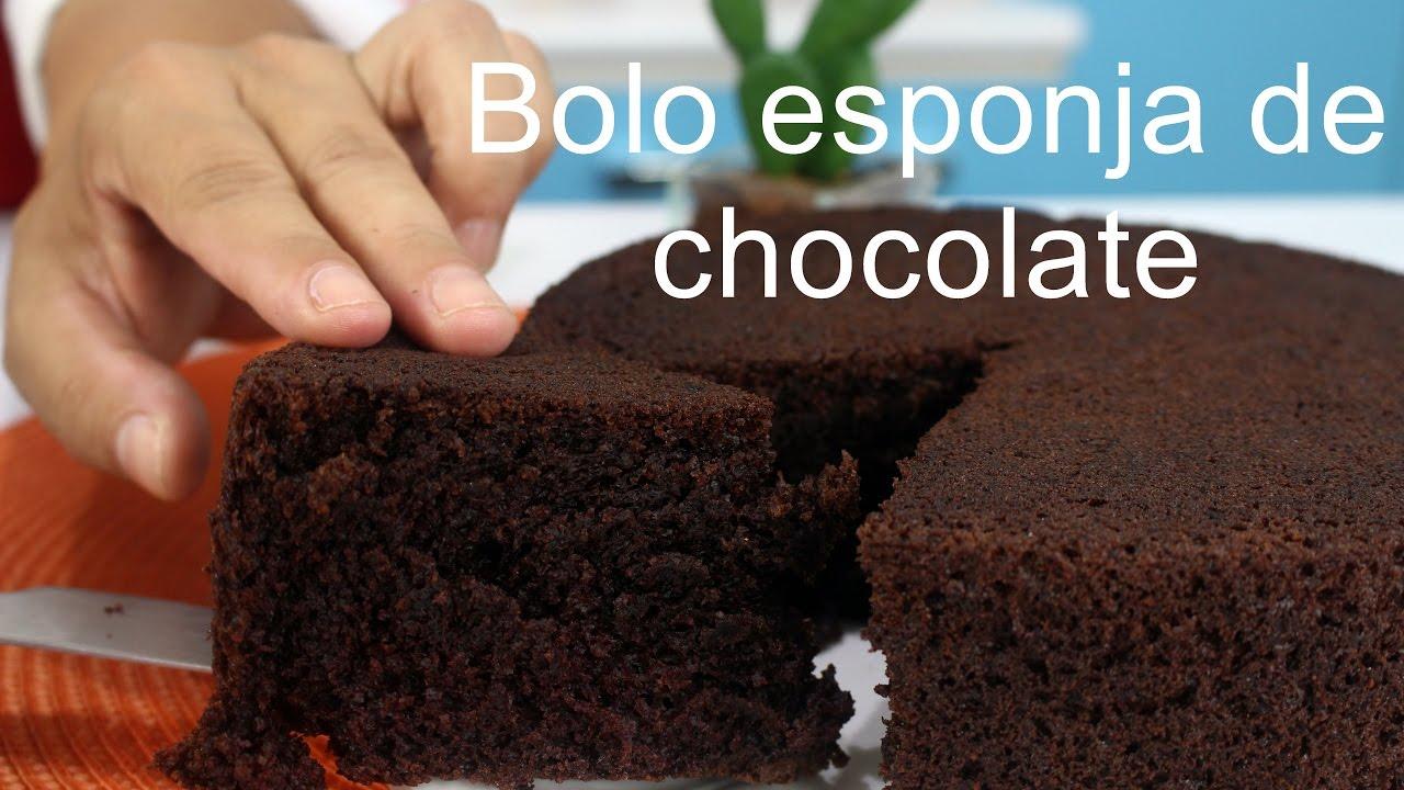 Bolo Esponja De Chocolate Massa Super Especial Youtube