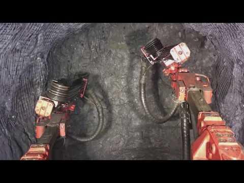 Underground Mine Jumbo Drilling 90 Degree Heading Sandvik Dd422i (timelapse)