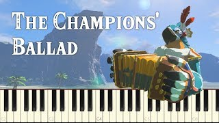 LoZ BotW - The Champions' Ballad (Piano Cover) [Synthesia]