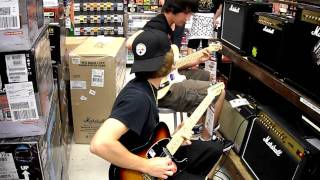 Download awesome guitar battle MP3 song and Music Video