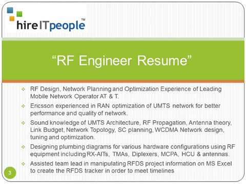 Rf Engineer Resume Youtube