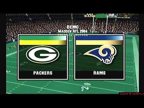 Madden NFL 2004 Demo Games | GB @ STL | Balanced Match