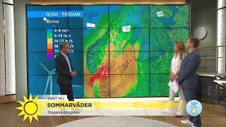 Nu kommer sommarstormen till Sverige - Nyhetsmorgon (TV4)