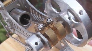 Veja como funciona o motor comedor de fogo ou seria um Stirling!! - Flammenfresser engine, vacumm.