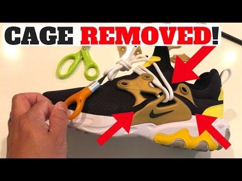 buy online 8dbcb 1a3a1 CUSTOM NIKE REACT PRESTO CAGE REMOVAL TUTORIAL! Buy Nike React Presto  Here https   bit.ly 2JnxkA6. Buy Nike React shoes here   https   bit.ly 2JGpZuV