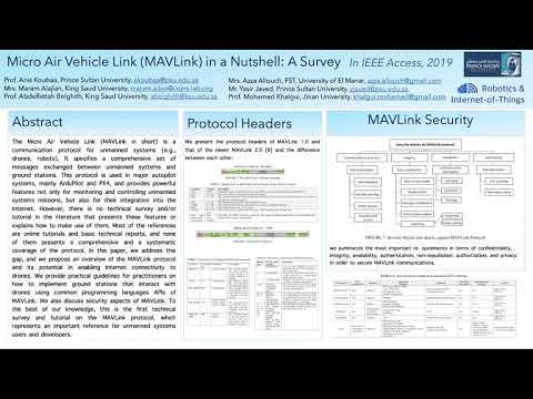 MAVLink in a Nutshell: A Survey (IEEE Access, June 2019) - YouTube
