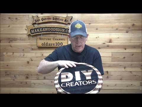 #367 Part 4 Making A Freehand Carved Sign For DIY Creators
