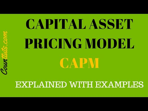 What Is Capital Asset Pricing Mode (CAPM) | With Calculation Examples